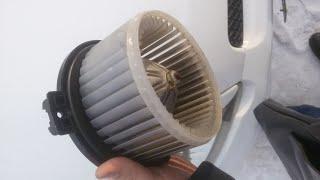 Замена мотора печки тойота витц