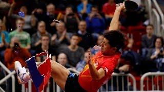 Emotional Table Tennis Celebration by Zhang Jike