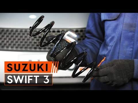 How to replace rear springs on SUZUKI SWIFT 3 [TUTORIAL AUTODOC]