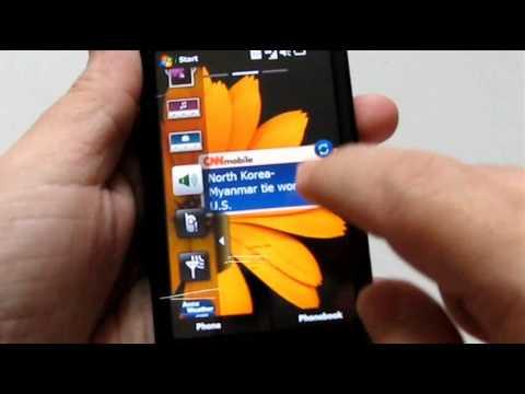 Samsung Omnia II Exterior and Widgets @ OCWORKBENCH (Video 2)