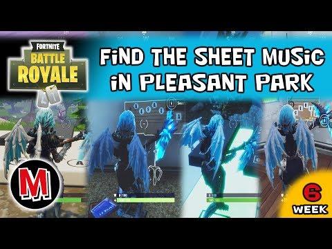Find The Sheet Music In Pleasant Park Fortnite Season 6 Week 6 Challenge