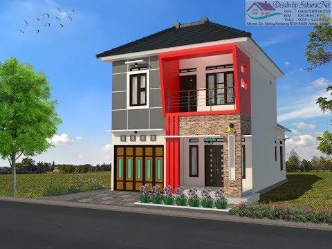 Rumah Minimalis Lantai 2 Modern House 7x12 Youtube