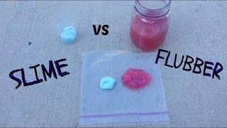 SLIME AND FLUBBER COMPARISON! // Slime VS Flubber