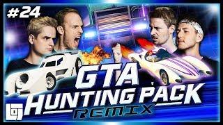 ROCKET CARS VS VRACHTAUTO'S in GTA V met Don, Joost, Link en Jeremy   LOGS3   #24
