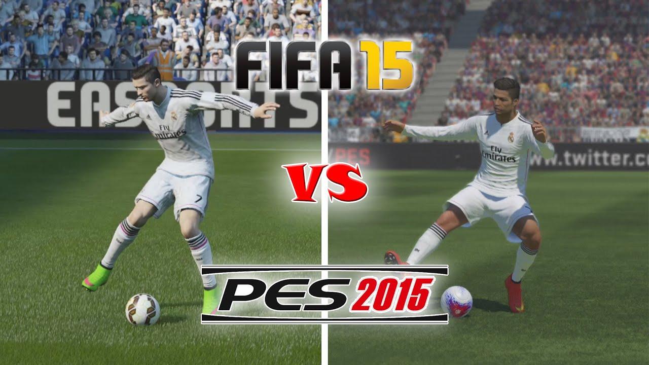 FIFA 15 vs PES 15 Celebrations - YouTube