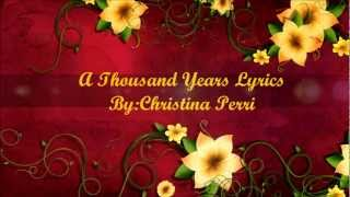 Baixar Christina Perri- A Thousand Years Lyrics- HD