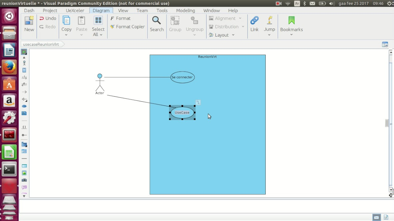 Create a new project and a new Use Case Diagram in Visual Paradigm ...