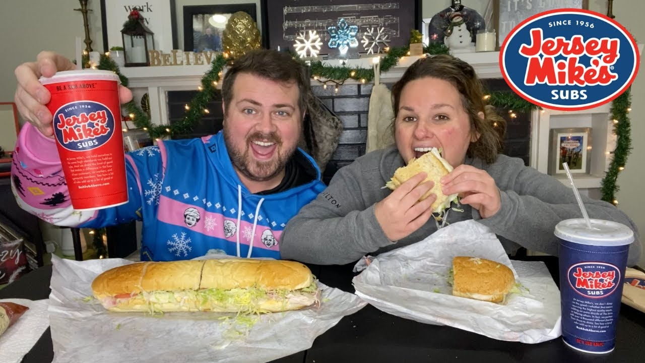 Jersey Mike's Mukbang | Veggie Sub and Giant Club Sub