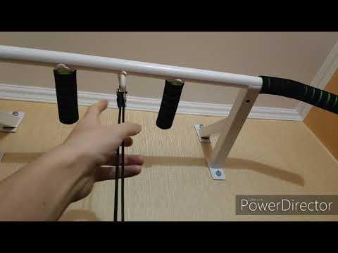 Самодельный тренажер для рук (Homemade Hand Trainer) Блок Веревка Груз Плечи Руки Турник Упражнение