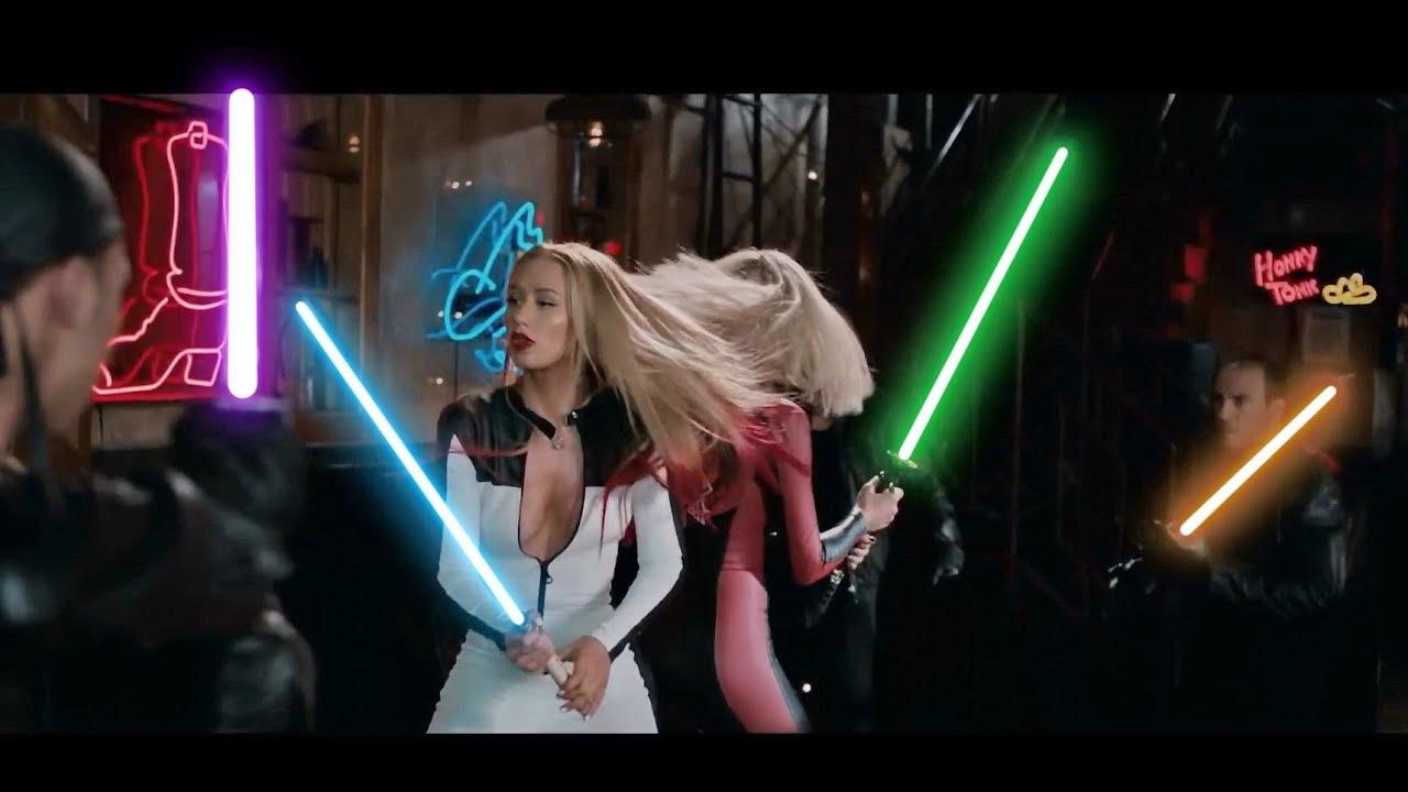iggy azalea and rita ora star wars lightsaber fight youtube