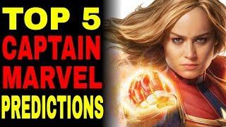 Top 5 Captain Marvel Predictions