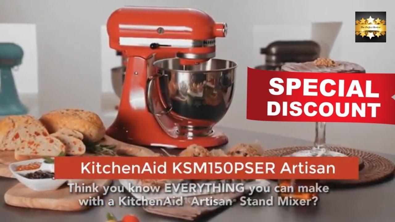 Discount Kitchenaid Ksm150pser Artisan Tilt Head Stand Mixer With