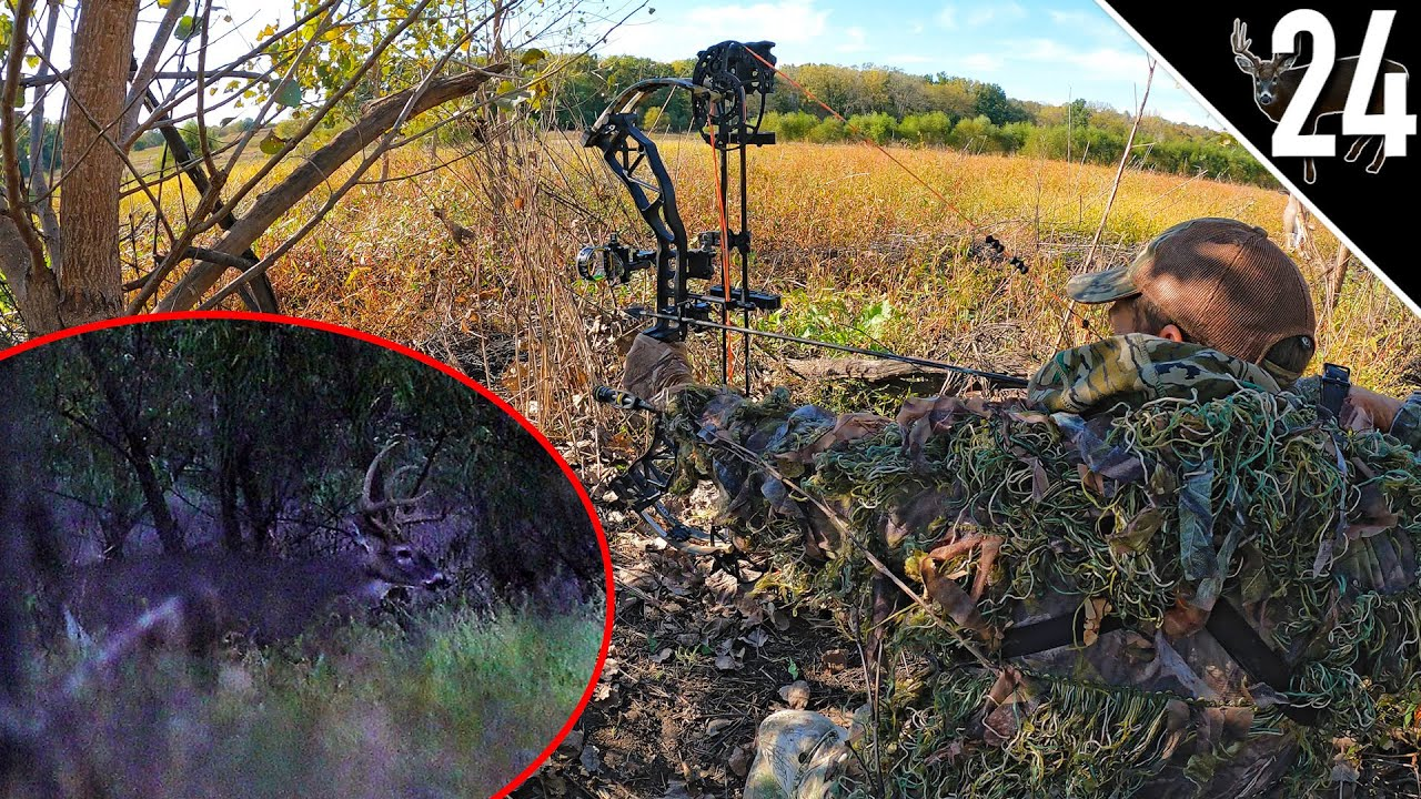 Download GHILLIE SUIT Bow Hunting with a Decoy!!! (BIG BUCK!)