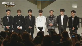 161202 '2016 Mnet Asian Music Awards' Red Carpet - GOT7 Cut