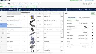 OpenBOM new user experience to move items up and down