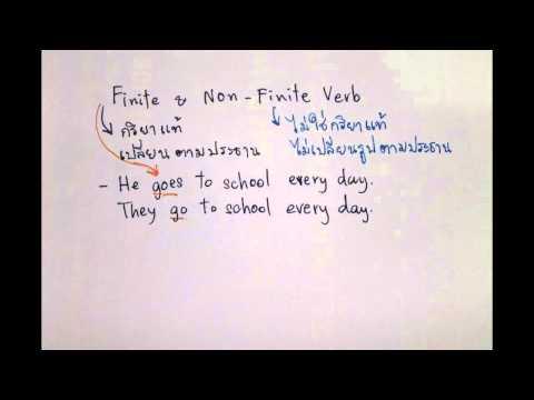 อังกฤษ ม.3 เข้า ม.4 Grammar Finite & Non-Finite Verb อ.ณภัชชา