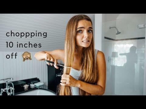 cutting my own hair 😬 eeeeek!