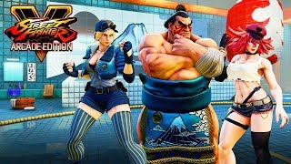 Street Fighter 5 AE - E. Honda | Lucia | Poison Gameplay Trailer @ 1080p (60ᶠᵖˢ) ᴴᴰ ✔