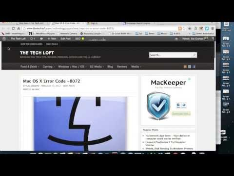 OS X Error Code  -8072
