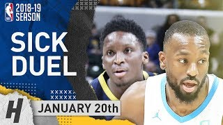 Victor Oladipo vs Kemba Walker DUEL Highlights Hornets vs Pacers 2019.01.20 - 21 Pts for Oladipo!