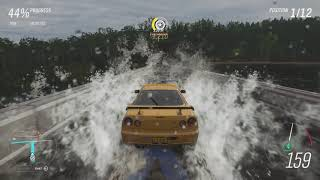 """Forza Horizon 4 - Final Road Racing Event """"The Colossus"""" with Nissan Skyline R34 GT-R"""