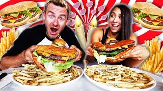 THE ULTIMATE FOOD CHALLENGE DATE! (15,000+ CALORIES)