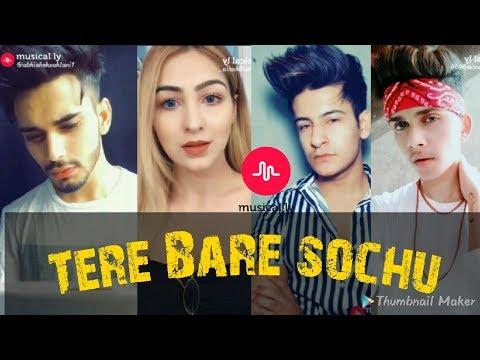 TERE BARE NA SOCHU AISI RAAT NHI H | Musical.ly compilation | sad song |