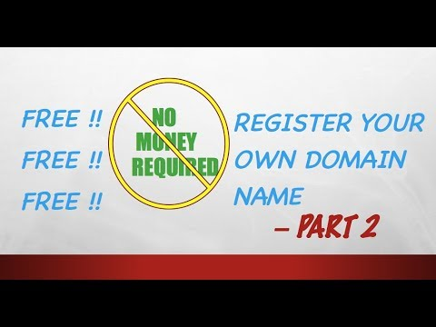 FREE How To Register Domain Name Website Name Part 2 YouTube