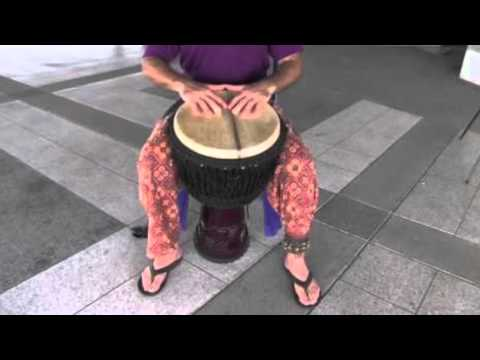 Djembe Drum & Triangle   Royalty Free