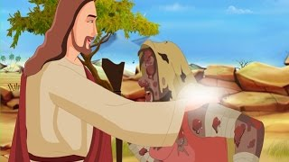 Bibel-Geschichten für Kinder - Jesus heilt die Aussätzigen ( Hindi Cartoon Animation )