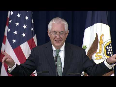 Secretary Tillerson Delivers Remarks At Foreign Service Swearing-in Ceremony