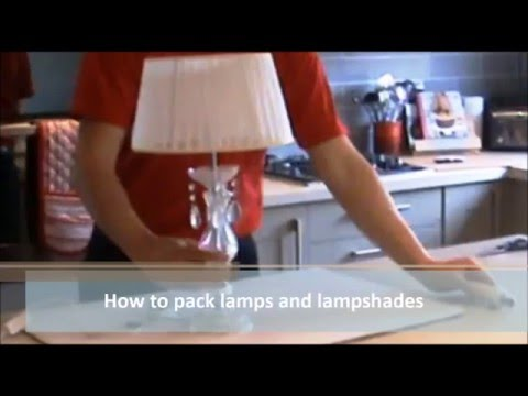 How To Pack Lamps And Lampshades A Video Guide To Packing Boxes