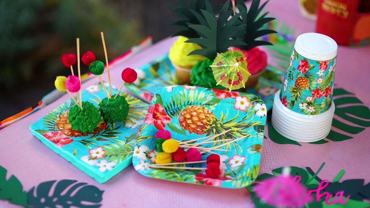 Como Decorar Una Mesa Para Fiesta Hawaiana