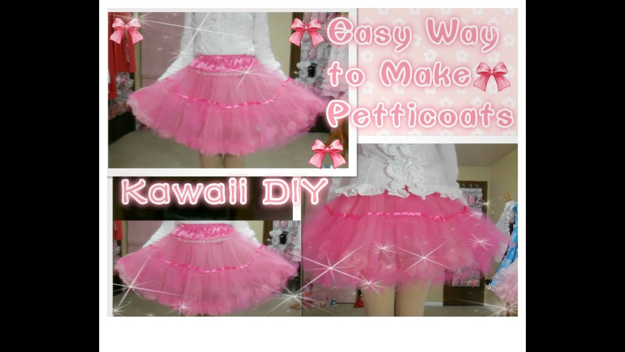 Kawaii Diy How To Make Petticoats For Beginners With Only 3 Yards