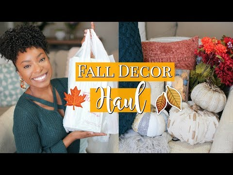 HUGE FALL DECOR HAUL 2019 | NEW (AFFORDABLE) FALL FINDS FROM HOMEGOODS & HOBBY LOBBY!! 🍂