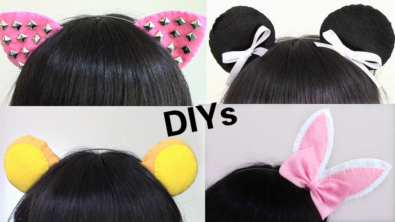 4 Easy Halloween DIYs: Studded Cat Ears, Bear Ears, Bunny ...