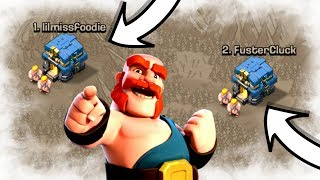 ATTACKING THE TOP 2 BASES IN WAR!! - Clash Of Clans