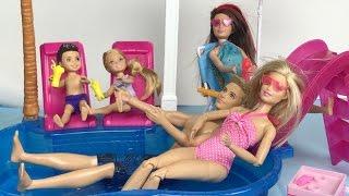 БАРБИ В БАССЕЙНЕ Вечеринка Челси Кен Видео для девочек Мультик с куклами Barbie Dolls