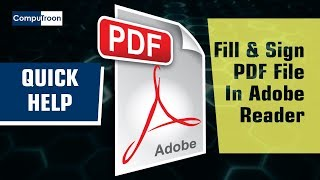 Fill and sign PDF forms in Adobe Reader