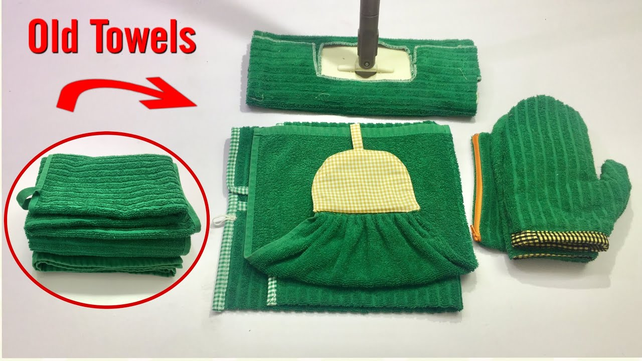 6 BRILLIANT WAYS TO REUSE OLD TOWELS/ DON'T THROW AWAY OLD TOWELS /6 USEFUL THINGS THAT YOU CAN MAKE