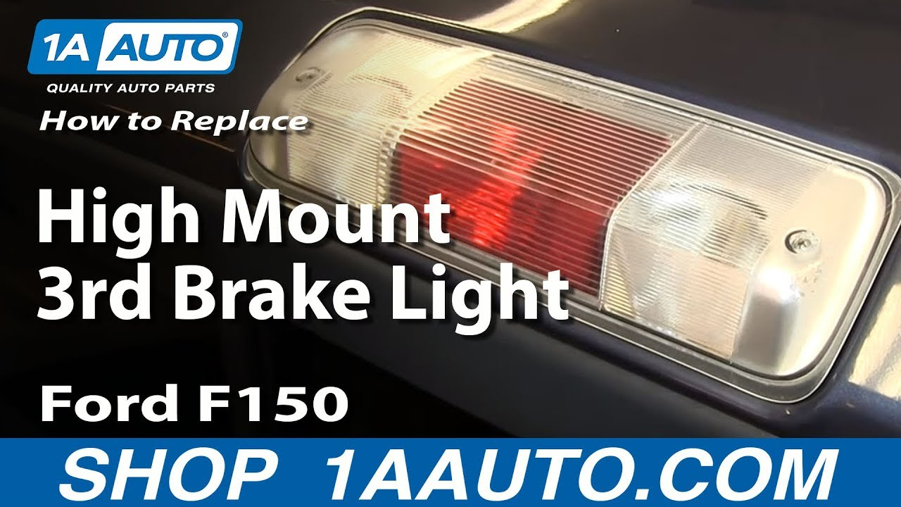 How To Install Replace High Mount 3rd Stop Brake Light 04 08 Ford 2014 F 250 Wiring Color Code F150