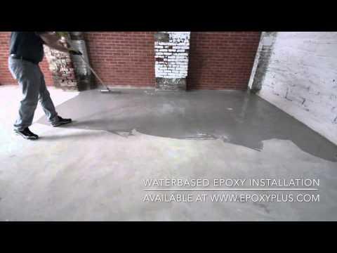 WATERBASED EPOXY INSTALLATION