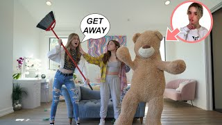 GIANT TEDDY BEAR PRANK on My FRIENDS 🧸 **Shocking Reactions**