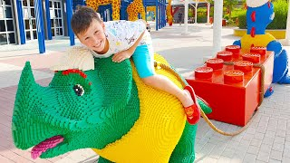 Ali and Adriana Pretend Play at the Legoland Dubai! Family Fun Playtime