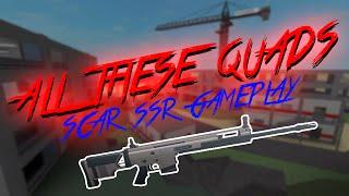 """QUAD KILLS"" SCAR SSR GAMEPLAY - PHANTOM FORCES ROBLOX"