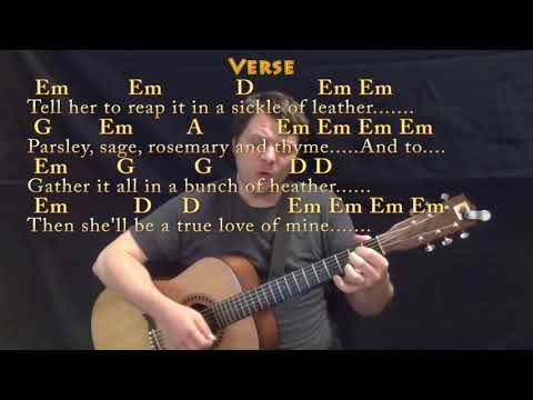 Scarborough Fair (Traditional) Strum Guitar Cover Lesson in Em with Chords/Lyrics