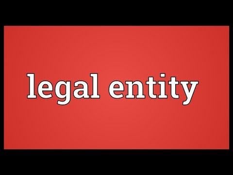 Legal entity Meaning