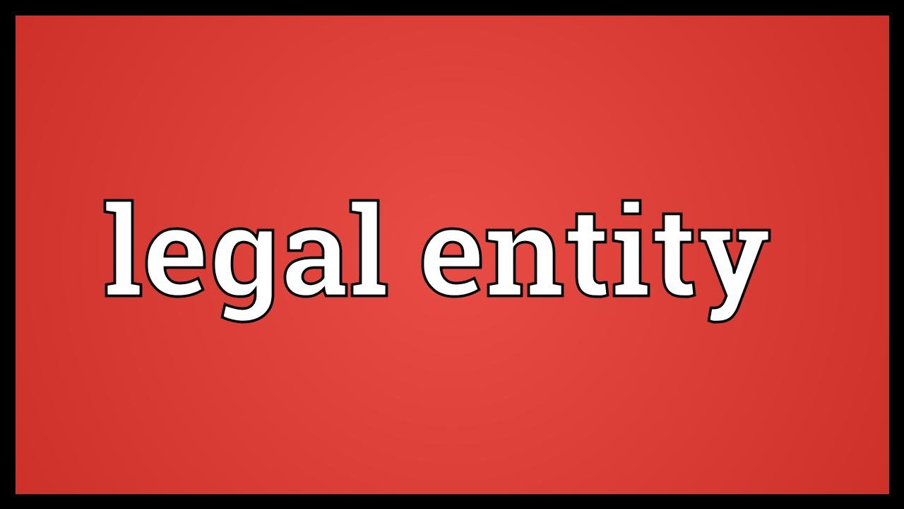 The concept of a legal entity