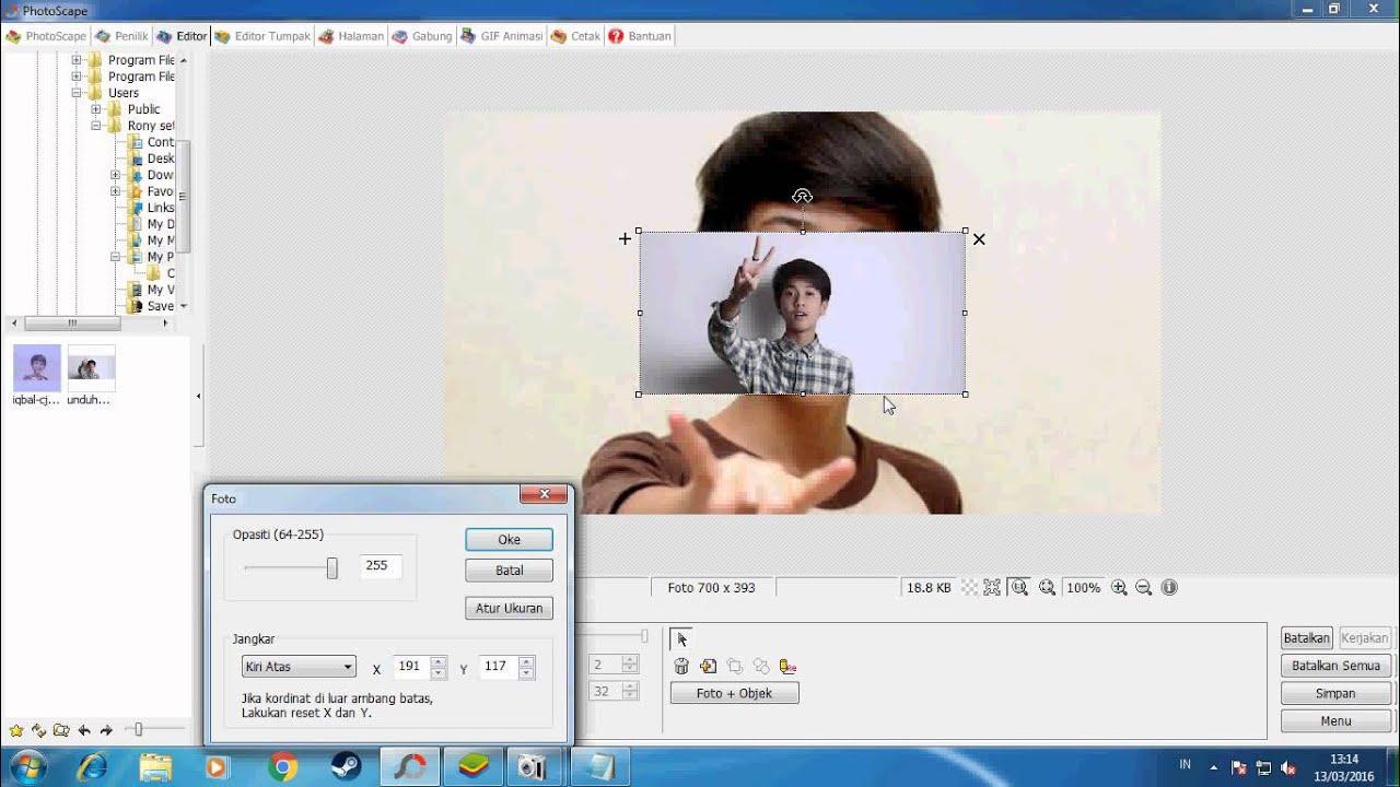 Cara edit 2 gambar jadi transfaran menggunakan photoscape ...