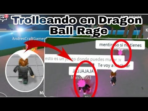 Trolleando noobs en Dragon Ball Rage   Trolleando a ssjr Roblox